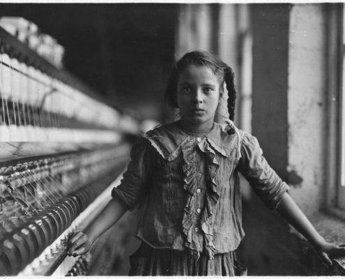 Immagine di L. Hine, Collezione National Child Labor Committee (NCLC), 1908, custodita presso la Library of Congress.
